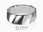 Satin Conche ring White gold 18 kt