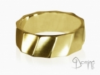 Satin Conche ring Yellow gold 18 kt