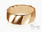 Satin Conche ring Red gold 18 kt