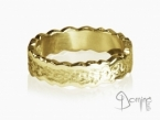 Irregular Corteccia/polished rings Yellow gold 18 kt