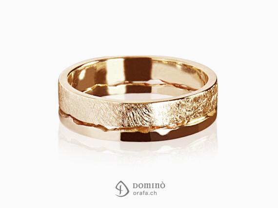 anelli-doppi-frastagliati-lucido-graffiato-oro-rosso