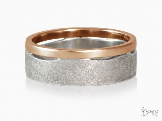 anelli-doppi-onda-lucido-graffiato-bicolore-variante-oro-bianco-rosso