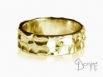 Large Gocce ring Yellow gold 18 kt