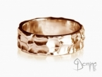 Large Gocce ring Red gold 18 kt