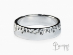 Gocce/polished ring White gold 18 kt