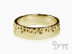 Gocce/polished ring Yellow gold 18 kt