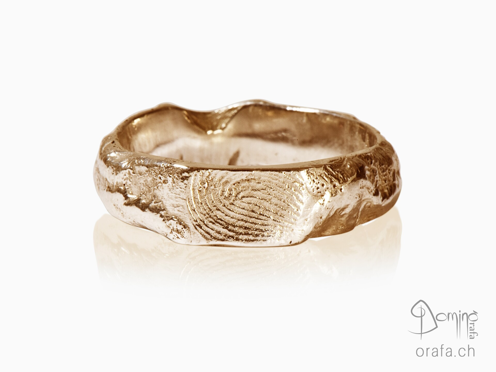 Fingerprint Roccia rings