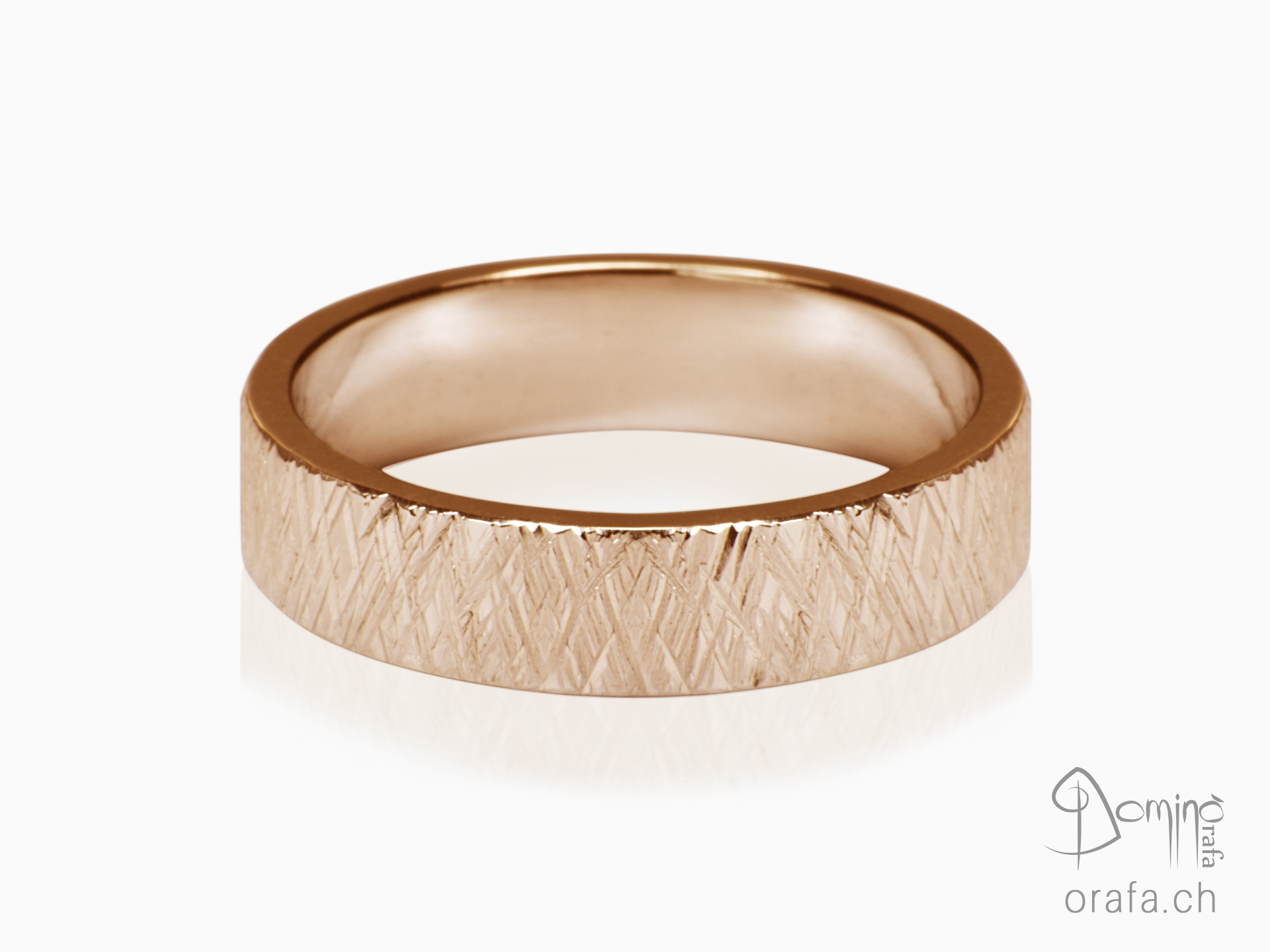 Crossed Linee ring