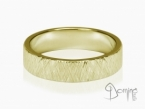 Crossed Linee ring Yellow gold 18 kt