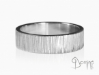 Horizontal Linee rings White gold 18 kt