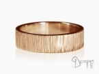 Horizontal Linee rings Red gold 18 kt