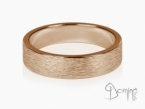 Vertical Linee rings Red gold 18 kt