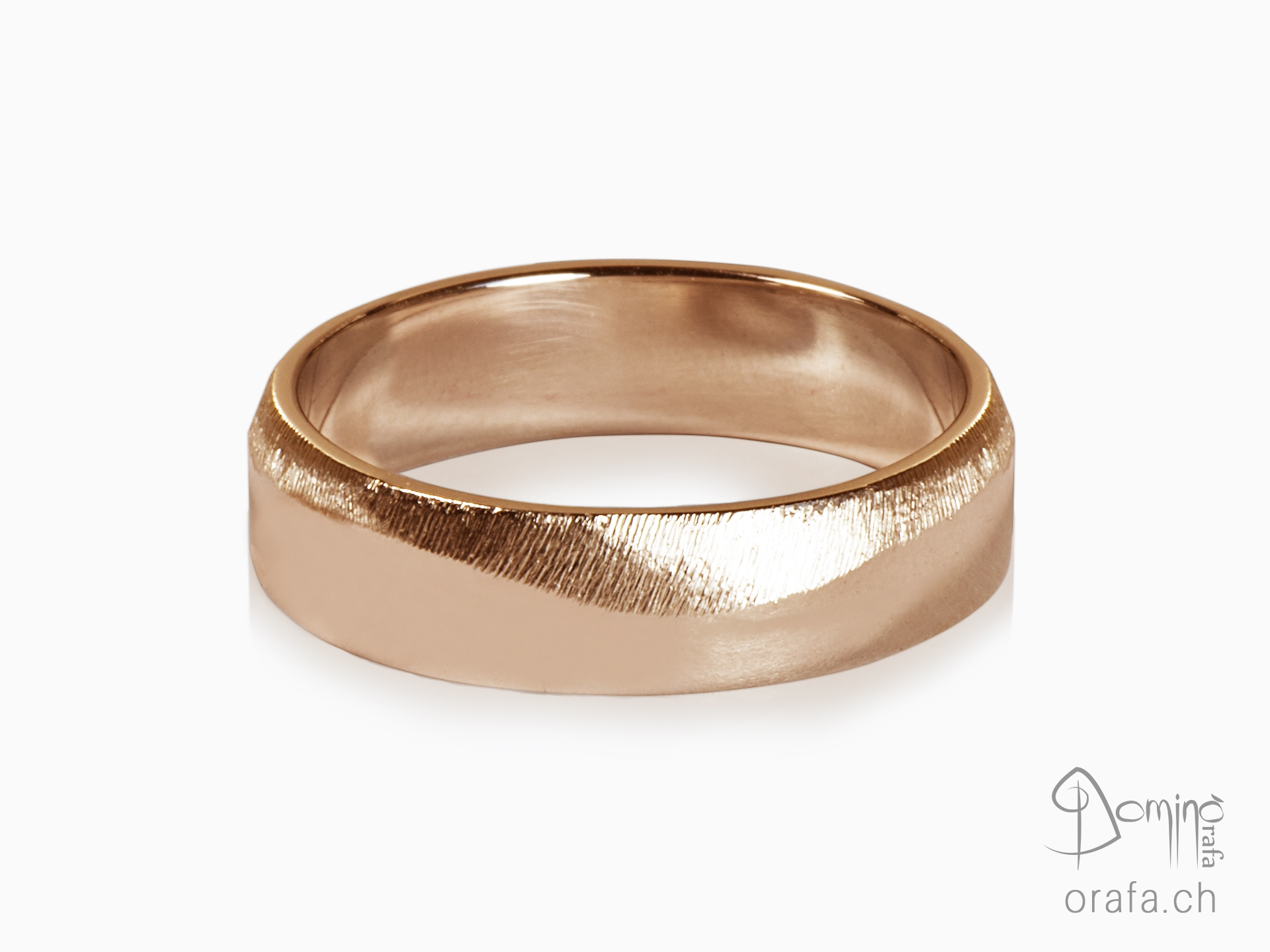 Polished satin wave rings