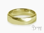 Polished satin wave rings Yellow gold 18 kt