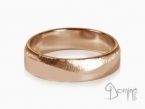 Polished satin wave rings Red gold 18 kt