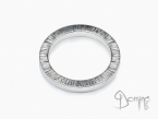 Square rings edge Linee White gold 18 kt