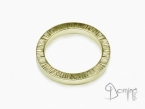 Square rings edge Linee Yellow gold 18 kt
