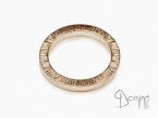 Square rings edge Linee Red gold 18 kt