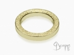 Square rings sanded edge Yellow gold 18 kt