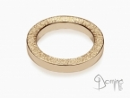 Square rings sanded edge Red gold 18 kt