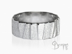Irregular Sanded Scalini ring White gold 18 kt
