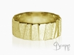 Irregular Sanded Scalini ring Yellow gold 18 kt