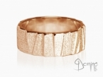 Irregular Sanded Scalini ring Red gold 18 kt