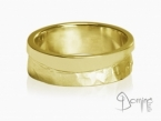 Sentiero/polished wave ring Yellow gold 18 kt