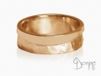 Sentiero/polished wave ring Red gold 18 kt