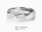 Sfaccettato with fingerprint ring White gold 18 kt
