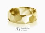 Sfaccettato satin ring Yellow gold 18 kt