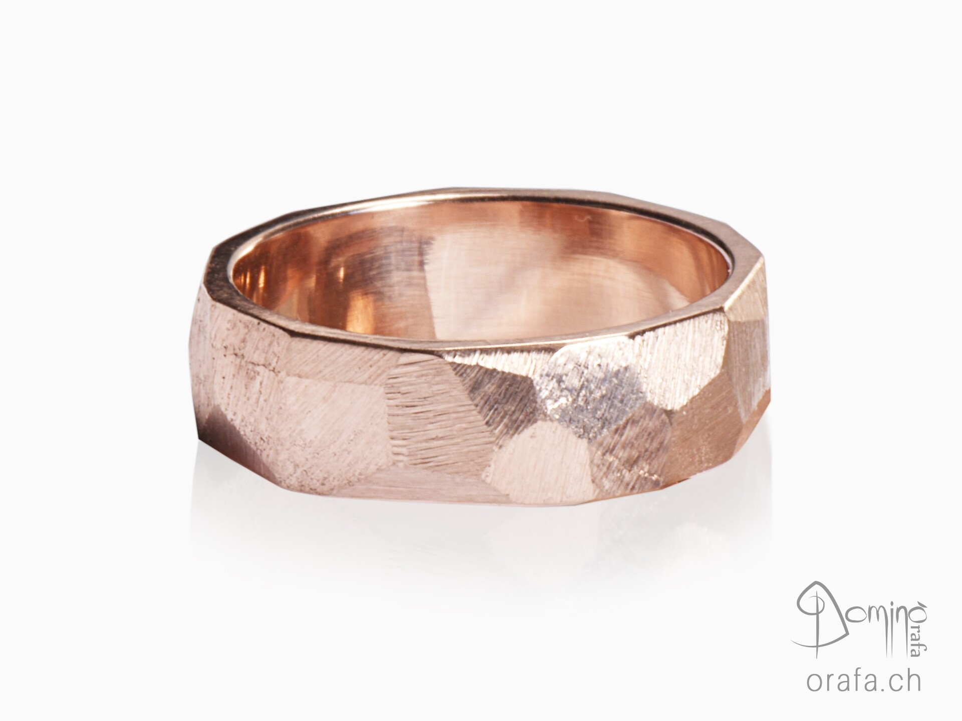 anelli-sfaccettati-oro-rosso