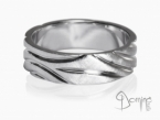 Polished Solchi rings satin finish White gold 18 kt