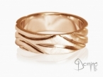 Polished Solchi rings satin finish Red gold 18 kt