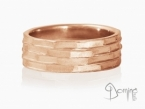 Tasselli ring Red gold 18 kt