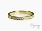 RIng with 10 diamonds Yellow gold 18 kt