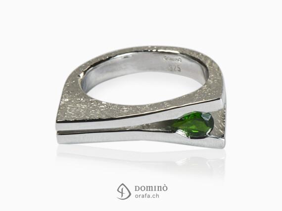 anello-aperto-cromodiopside-goccia-argento