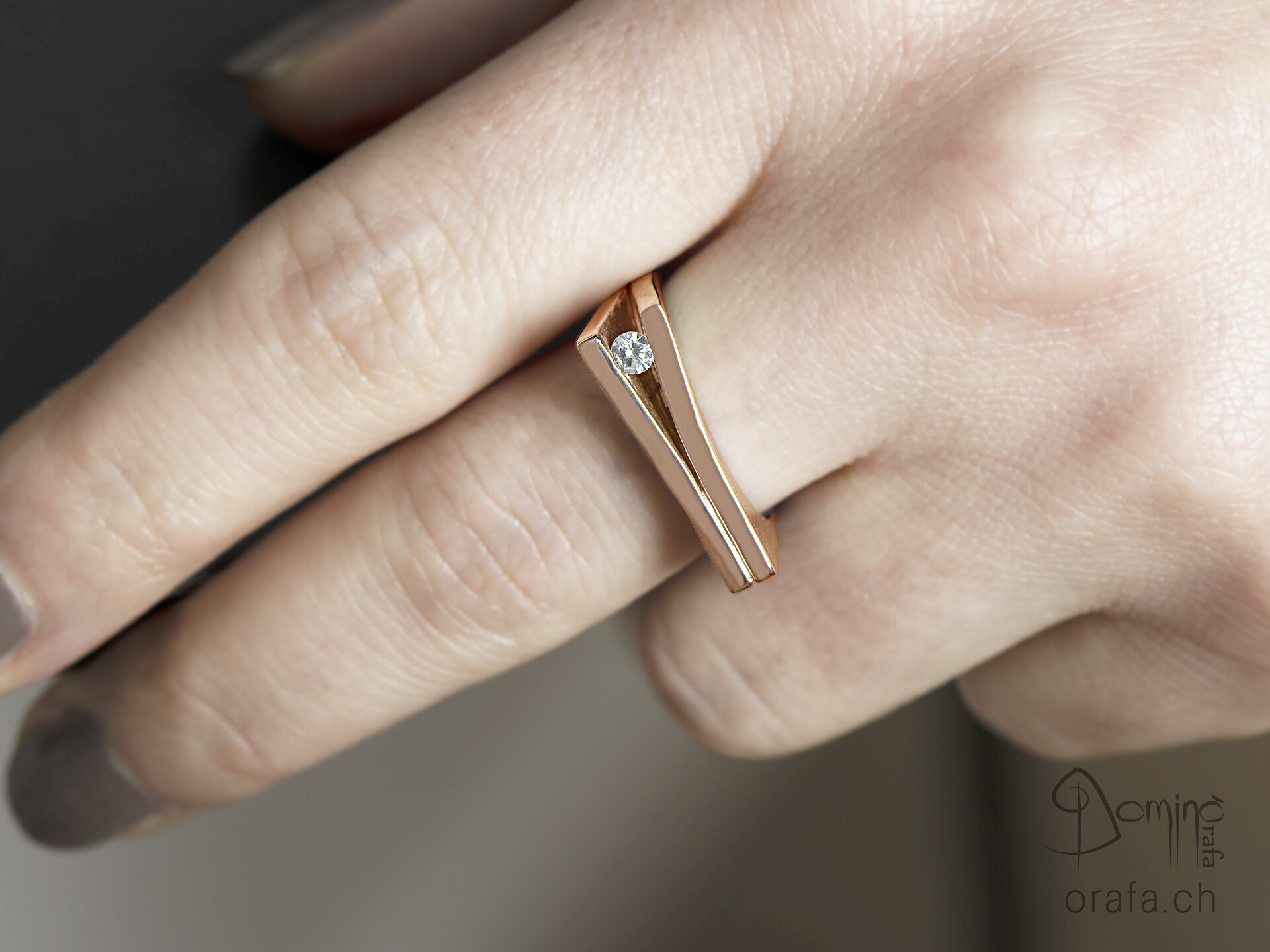 Anello con diamante 2