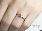 Open ring with diamond
