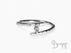 Open ring with diamond White gold 18 kt