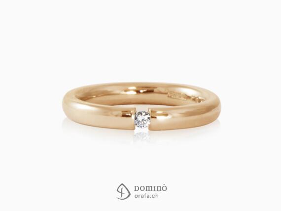 anello-bombato-lucido-diamante-brillante-0.06ct-oro-rosso