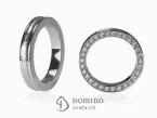 Conca ring with diamonds