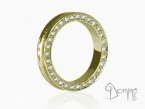 Conca ring with diamonds Yellow gold 18 kt