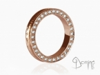 Conca ring with diamonds Red gold 18 kt