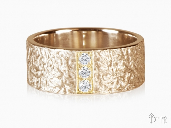 anello-corteccia-3-diamanti-pave-oro-rosso