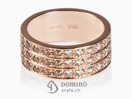 anello-diamanti-brown-sfumatura-3-file-oro-rosso