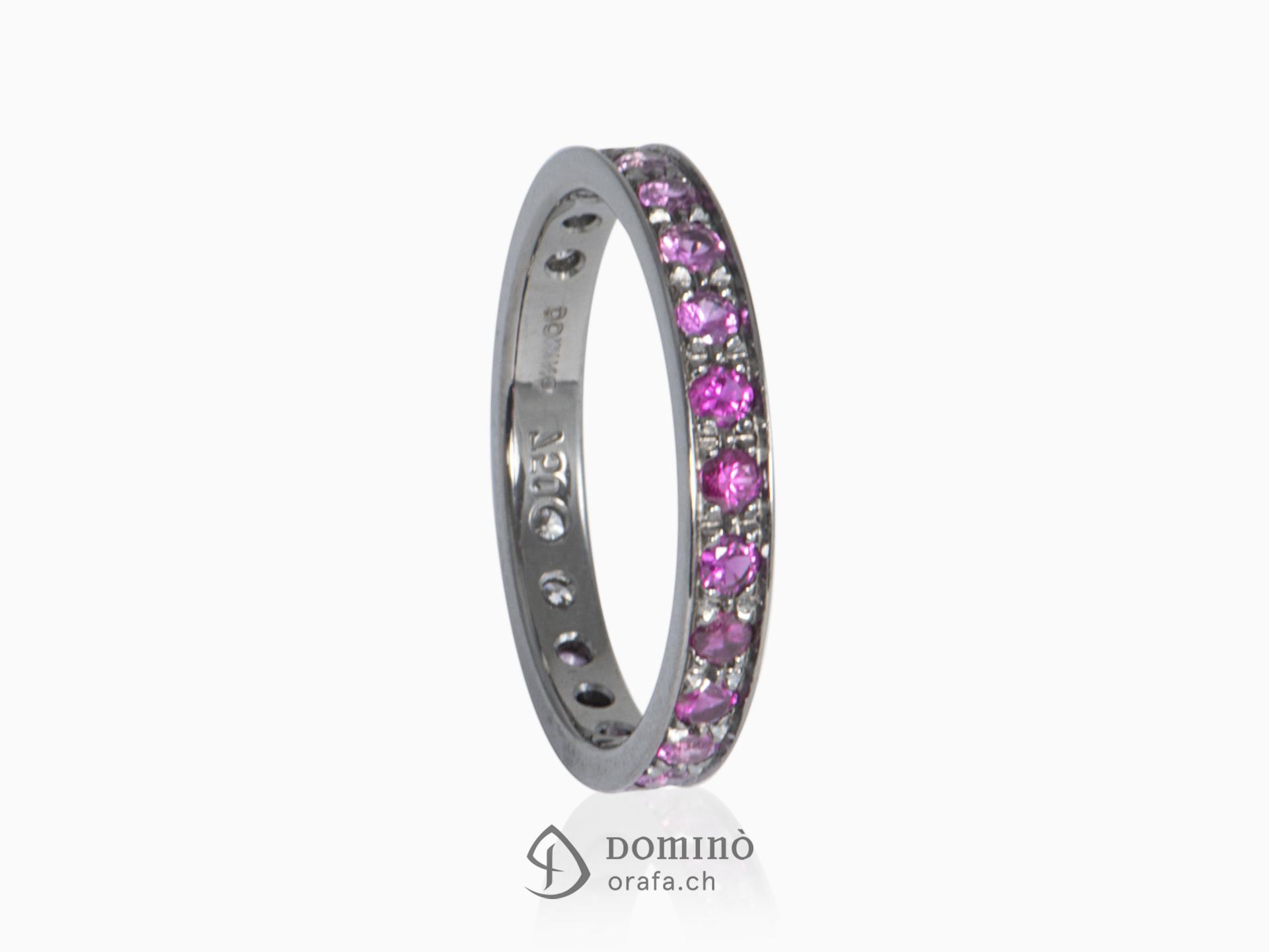 Anello di diamanti e zaffiri rosa