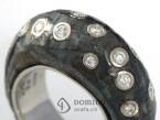 High Precious iron ring with diamonds