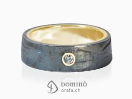 anello-ferro-prezioso-diamante-0,03ct-oro-giallo