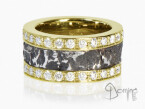 Ferro prezioso ring with diamonds Yellow gold 18 kt